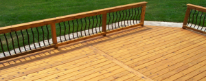 Cedar Deck Restored and Sealed